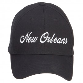 City of New Orleans Embroidered Cap - Black