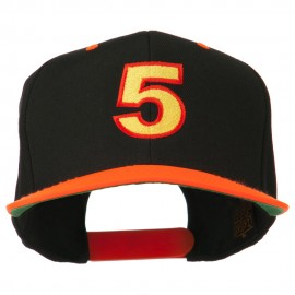 Arial Number 5 Embroidered Classic Two Tone Cap
