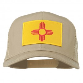 New Mexico State Flag Patched Mesh Cap