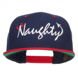 Naughty Devil Embroidered Two Tone Snapback