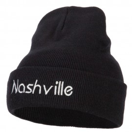 Nashville Embroidered Knitted Long Beanie