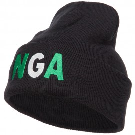 Nigeria Embroidered Long Beanie