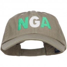 Nigeria NGA Flag Embroidered Low Profile Cap