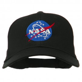 NASA Insignia Embroidered Cotton Twill Cap - Black