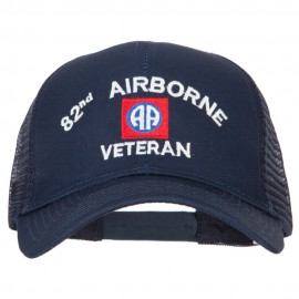 82nd Airborne Veteran Embroidered Solid Cotton Mesh Pro Cap