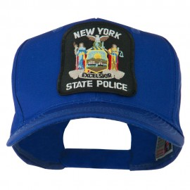 New York State Police Patched Twill Pro Style Cap - Royal