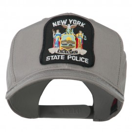 New York State Police Patched Twill Pro Style Cap - Grey