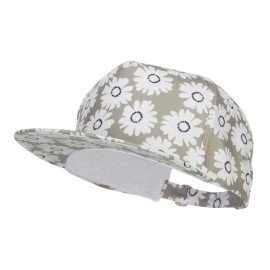 Women's 5 Panel Daisy Print Cap