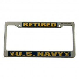 Navy 3D License Frame