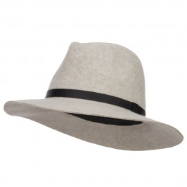 Women's Leather Band Wool Fedora