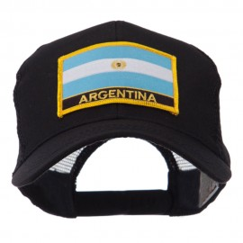 North and South America Flag Letter Patched Mesh Cap