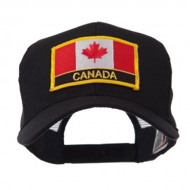 North and South America Flag Letter Patched Mesh Cap - Canada