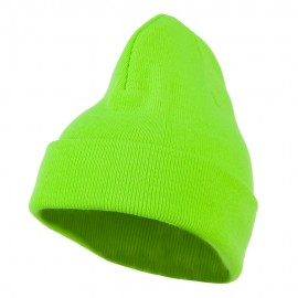 Neon Acrylic MG Long Beanie - Green