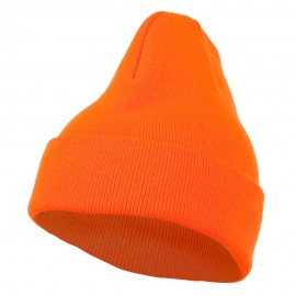 Neon Acrylic MG Long Beanie - Orange