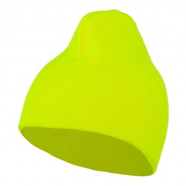 Neon Acrylic MG Short Beanie - Yellow