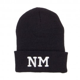 NM New Mexico State Embroidered Long Beanie