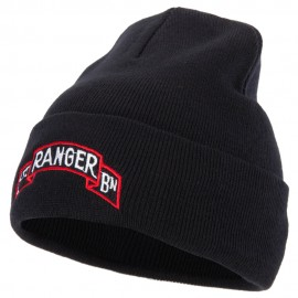 1st Ranger Bn Logo Embroidered 12 Inch Long Knitted Beanie