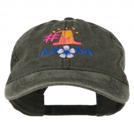 Number 1 Mom Embroidered Washed Cap
