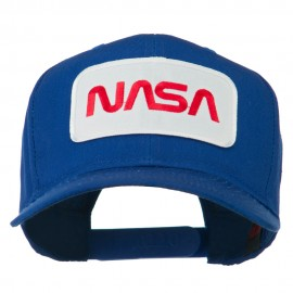 NASA Logo Embroidered Patched High Profile Cap - Royal
