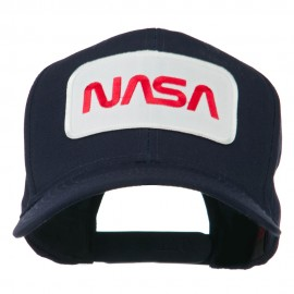NASA Logo Embroidered Patched High Profile Cap - Navy