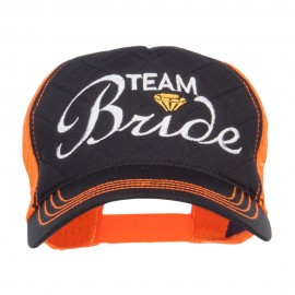 Team Bride Embroidered Neon Trucker Cap
