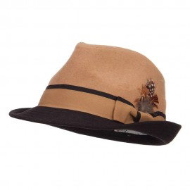 Two Tone Fedora with Feather