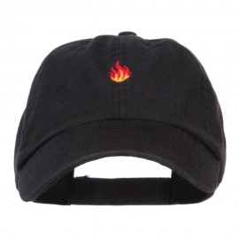 Mini Fire Embroidered Pet Spun Cap