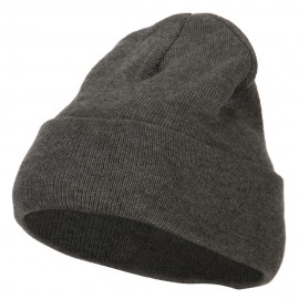12 Inch New Solid Color Long Cuff Beanie