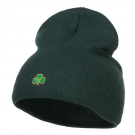 Mini Shamrock Embroidered Short Beanie