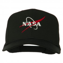 NASA Logo Embroidered Cotton Twill Cap - Black