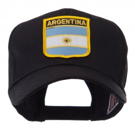 North and South America Flag Shield Patch Cap