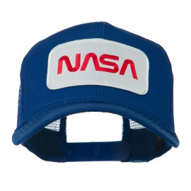 NASA Logo Embroidered Patched Mesh Back Cap - Royal