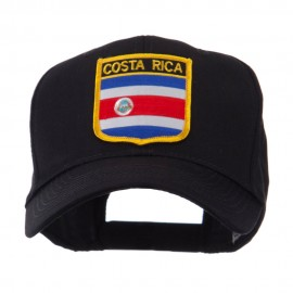 North and South America Flag Shield Patch Cap - Costa Rica