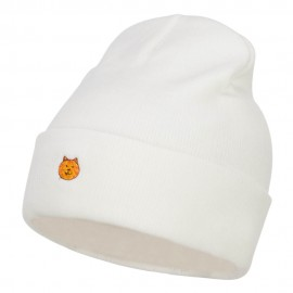 Mini Cat Embroidered Long Beanie