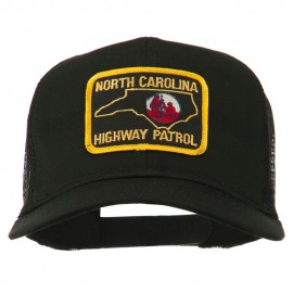 North Carolina Highway Patrol Patched Mesh Cap - Black