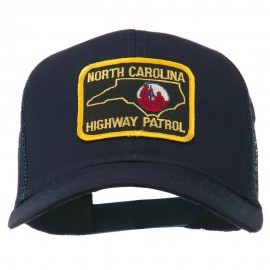 North Carolina Highway Patrol Patched Mesh Cap - Navy