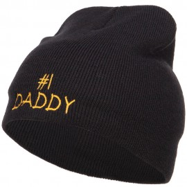 Number One Daddy Embroidered Short Beanie