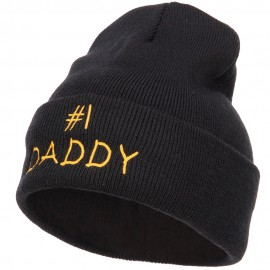 Number One Daddy Embroidered Long Beanie