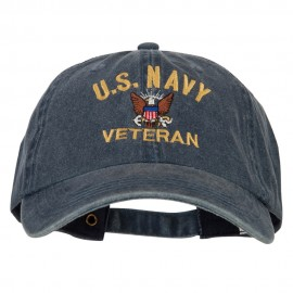 U.S. Navy Veteran Embroidered Big Size Washed Cap