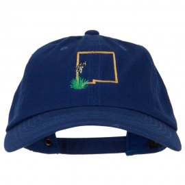 New Mexico Yucca with Map Embroidered Unstructured Washed Cap.