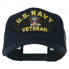 US Navy Veteran Military Patch Mesh Back Cap - Navy