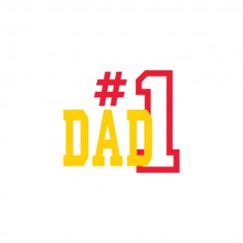 Number 1 Dad Outline Heat Transfers