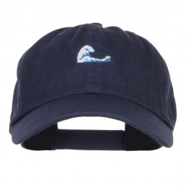 Mini Wave Embroidered Low Cap - Navy