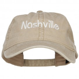 Nashville Embroidered Washed Buckled Cap