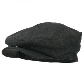 Big Men's Wool Blend Ivy Cap - Charcoal