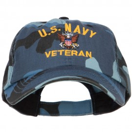 US Navy Veteran Military Embroidered Enzyme Camo Cap