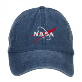 NASA Logo Embroidered Washed Cap - Navy