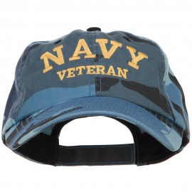 Navy Veteran Letters Embroidered Camo Cap