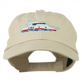 Nautical Yacht Embroidered Pet Spun Washed Cap