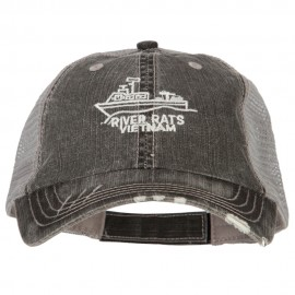 River Rats Vietnam with Riverboat Embroidered Low Mesh Cap